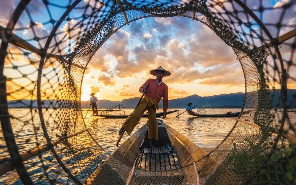 דייגים במיאנמר (בורמה)